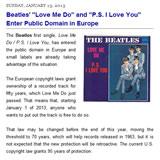 ヨーロッパでビートルズの作品がパブリックドメインとなる
